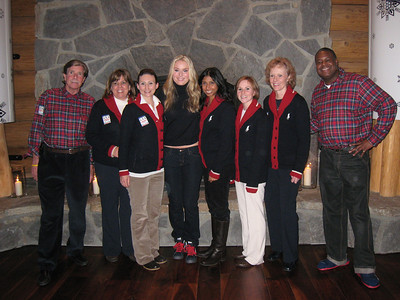 Lindsey Vonn with the staff of the USA House in Whistler (Doug Haney/U.S. Ski Team)