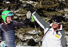 Olympic champion Ted Ligety and Head Coach Sasha Rearick exchange high fives. The Olympic men's alpine ski team was at Park City Mountain Resort in Park City, Utah for a pre-Olympic speed training camp. (U.S. Ski Team/Tom Kelly)