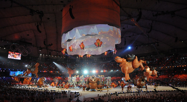 A fun cultural presentation for Canada at the Closing Ceremony of the 2010 Vancouver Olympic Winter Games. (Tom Kelly)