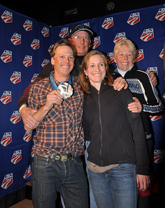 Todd Lodwick with his family Spyder U.S. Ski Team House, Whistler, BC 2010 Olympic Winter Games  Photo: Katie Perhai/USSA
