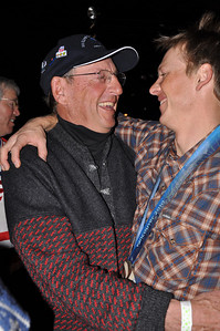 Todd Lodwick embraces his dad  Spyder U.S. Ski Team House, Whistler, BC 2010 Olympic Winter Games  Photo: Katie Perhai/USSA
