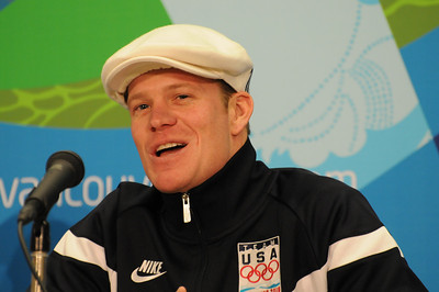 U.S. Olympic Freestyle Moguls Team at its arrival press conference at the Main Press Center in Vancouver. (USSA/Tom Kelly)