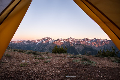 Top 5 campsites of my life.  Marmot Pass.
