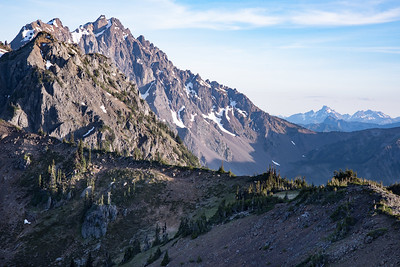 Dramatic views abound from Marmot Pass