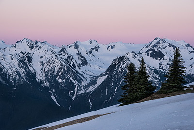 Morning alpenglow from Hurricane Ridge