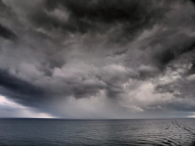 April 29 2011. In the med between Gilbraltar and SE Spain. Stormy skies look fantastic with the Oly E5 dramatic tone art filter.