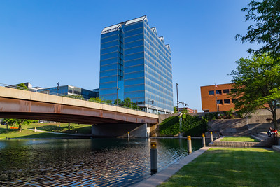 Eugene Leahy Mall and Mutual of Omaha building in Downtown Omaha