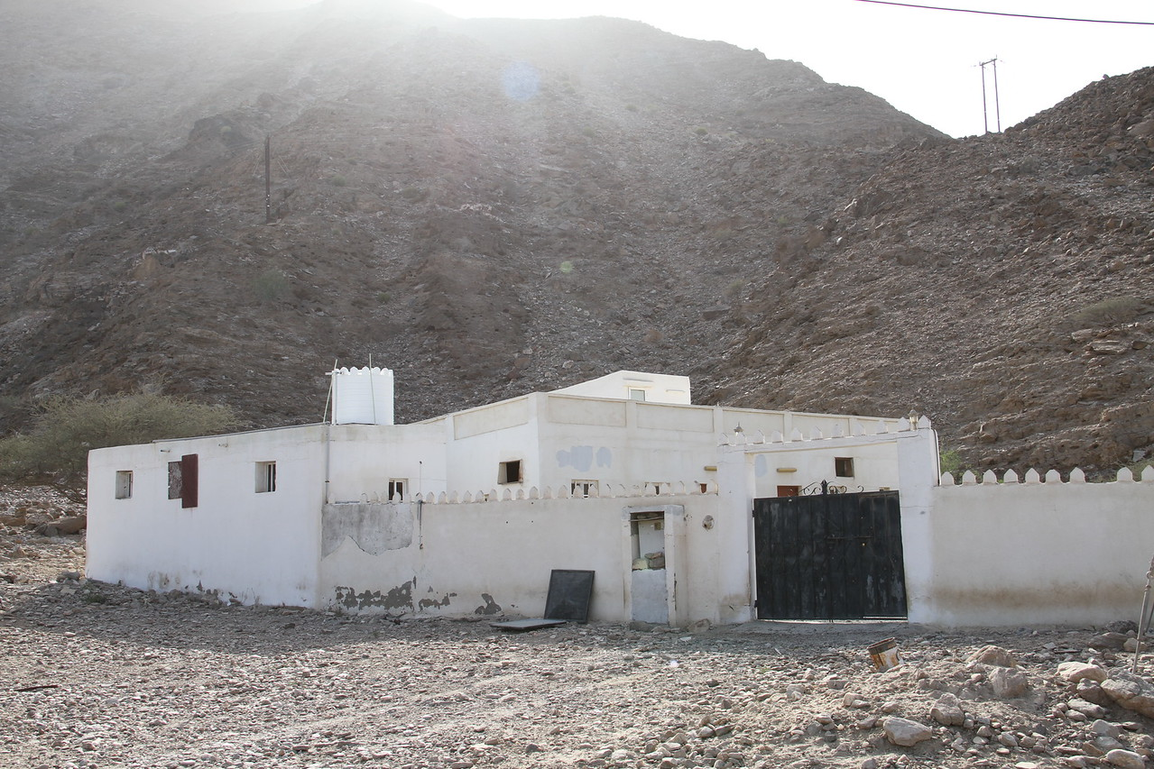 Typical village house outside Muscat