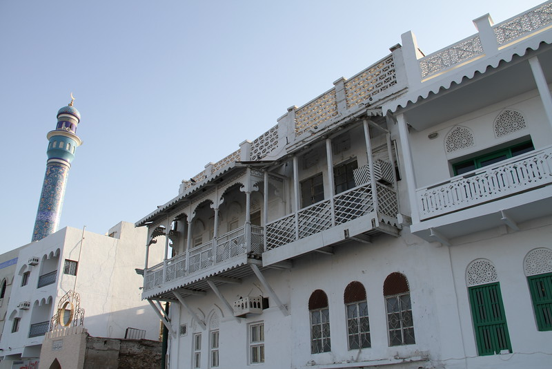 Old houses on the Mutrah Corniche