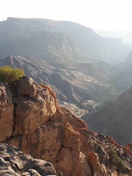 The valley floor from Jebel Akhdar, Oman.