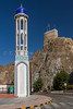 The Al Khawr Mosque  in front of the Al Mirani fort in MUscat, Oman.