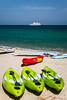 Watersports equipment  at the Al Bustan Palace Hotel and resort near Muscat, Oman.