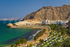 The Al Jissah Beach facing the Gulf of Oman near Muscat, Oman.