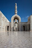 Architecture of the Grand Mosque in Muscat, Oman.