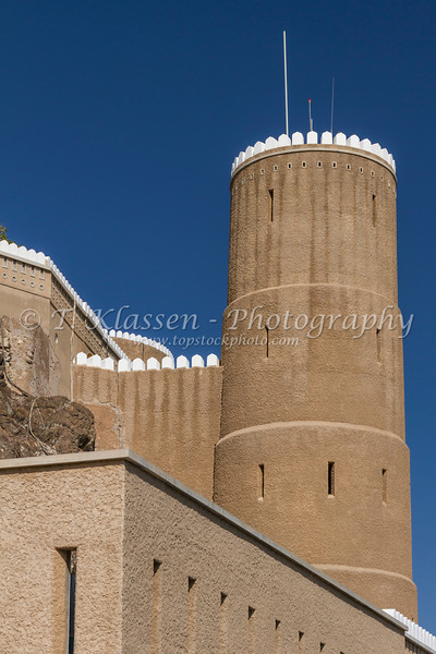 Fort Al Mirani in Muscat, Oman.