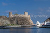 The Al Jalali fort facing the Gulf of Oman in Muscat, Oman.