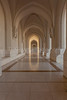 An arched hallway at the Ministry of finance buildings near the Al Alam Royal Palace in Muscat, Oman.