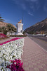 Streets and roadways decorated with flowers in Muscat, Oman.