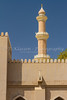The mosque and minarete in Nizwa, Sultanate of Oman.