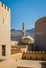 The mosque and minarete in Nizwa, Sultanate of Oman.