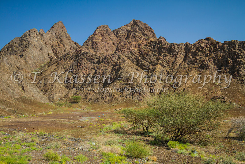 The barren mountains of the Sultanate of Oman.