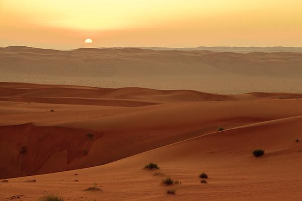 Wschód słońca na wydmach