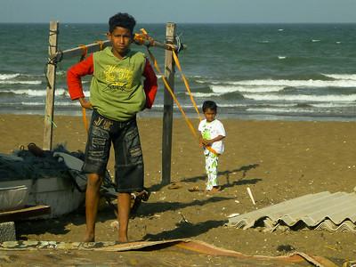Dzieciaki rybaków