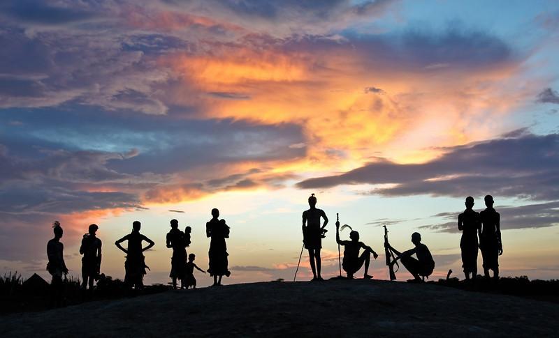 Omo Valley, Ethiopia, Sunset, Kara Tribe
