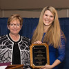 Provost and Senior Vice President for Academic Affairs Gayle D. Insler, Ph.D. with Fallon Kane - President's Student Leadership Award