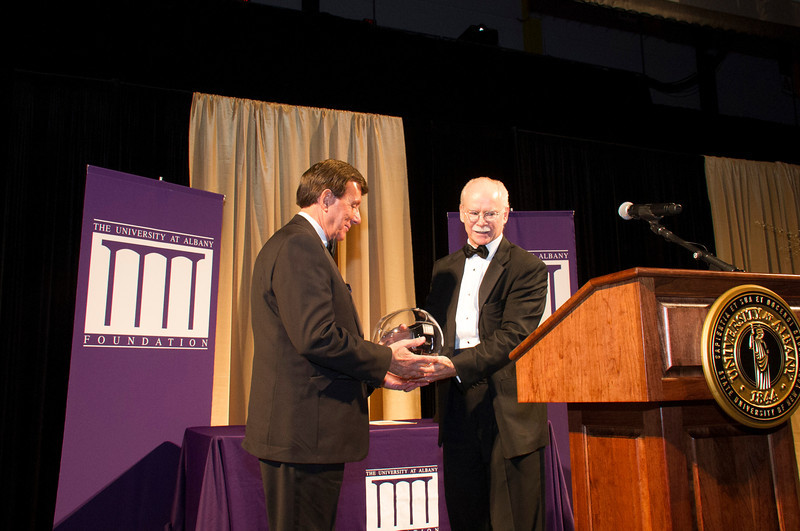 The University at Albany Foundation honors Community Laureate James J. Barba and Academic Laureate Stephen M. Berk, Ph.D at the 2013 Citizen Laureate Awards.  Photographer: Mark Schmidt