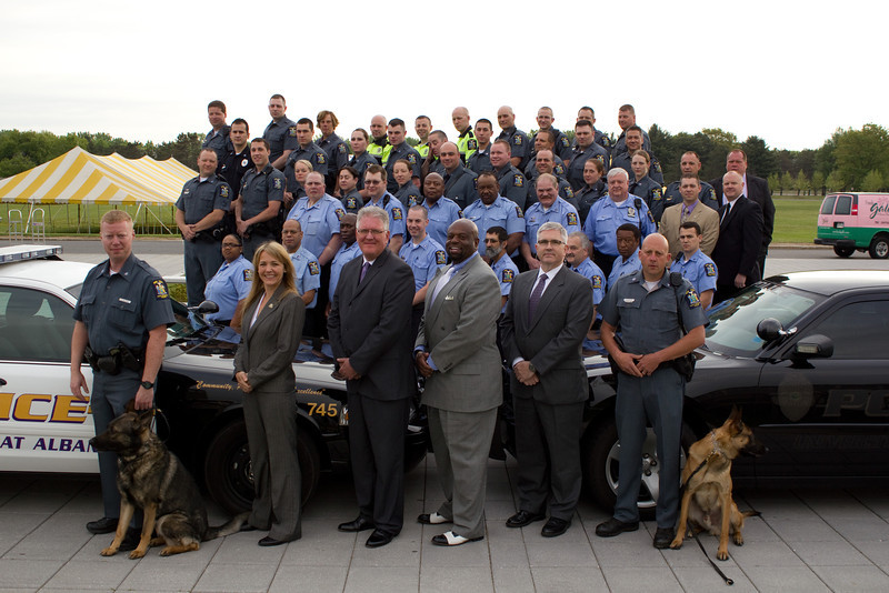 Members of the 2013 University Police Department. Photographer: Paul Miller