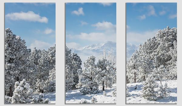 Fine Art Print Concepts - Three Picture Set, America's Mountain