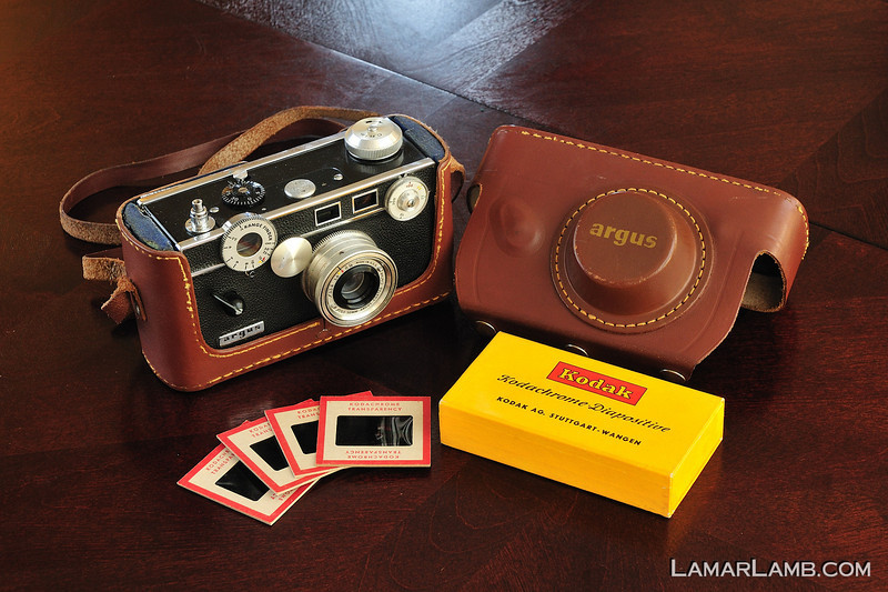 Argus C3 (The Brick) and some of my dad's old slides from the mid 1950's.