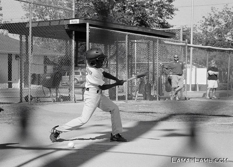 City League baseball in Vidalia, Georgia :: Camera - Nikon F Photomic FTn; Lens - Nikkor 50-135mm f/3.5 AIs; Film - Ilford HP5 Plus developed in Kodak XTOL.