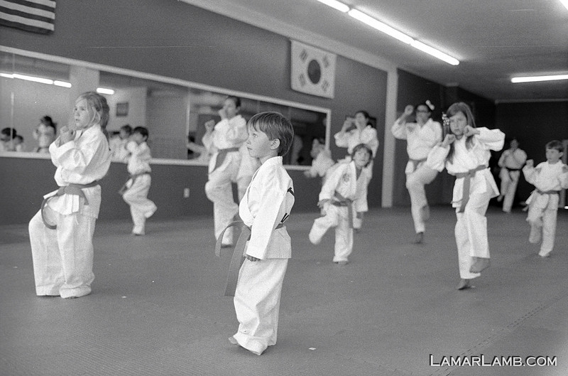 Taekwondo in Vidalia, Georgia :: Camera - Nikon F Photomic FTn; Lens - 35mm f/1.4 Nikkor-N Auto; Film - Ilford HP5 Plus developed in Kodak XTOL.