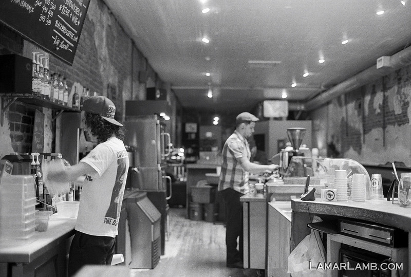 Blackbird Coffee in Milledgeville, Georgia :: Camera - Nikon F Photomic FTn; Lens - 35mm f/1.4 Nikkor-N Auto; Film - Ilford HP5 Plus developed in Kodak XTOL.