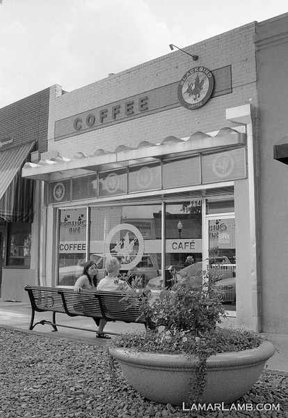 Blackbird Coffee in Milledgeville, Georgia :: Camera - Nikon F Photomic FTn; Lens - 35mm f/1.4 Nikkor-N Auto; Film - Ilford HP5 Plus developed in Kodak XTOL.