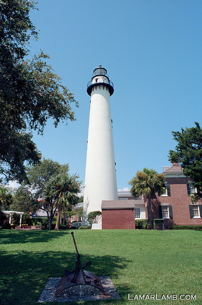 St. Simons Island Lighthouse, Georgia. Camera: Nikon  F Photomic FTn; Lens: Nikkor 24mm f/2.8 AIs; Film: Kodak Ektar 100