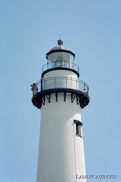 St. Simons Island Lighthouse, Georgia. Camera: Nikon  F Photomic FTn; Lens: Nikkor 50-135mm f/3.5 AIs; Film: Kodak Ektar 100