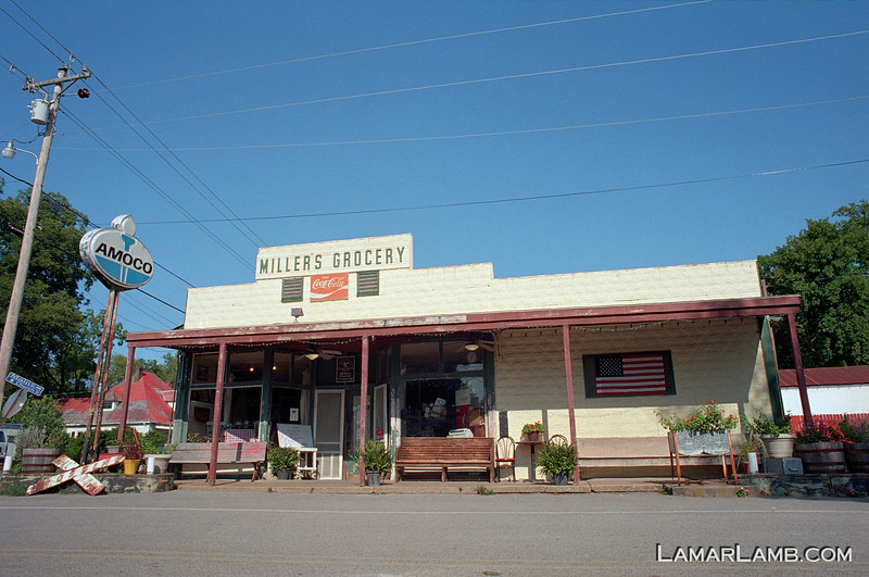 Miller's Grocery, Christiana Tennessee. Camera: Nikon  F Photomic FTn; Lens: Nikkor 24mm f/2.8 AIs; Film: Kodak Ektar 100