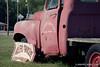 Studebaker truck at Miller's Grocery, Christiana Tennessee. Camera: Nikon  F Photomic FTn; Lens: Nikkor 50-135mm f/3.5 AIs; Film: Kodak Ektar 100