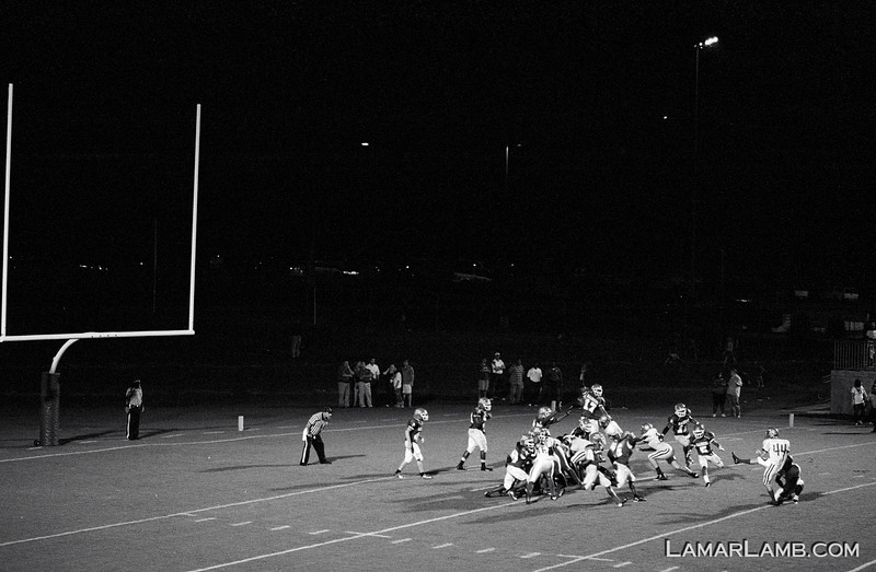 Vidalia High School vs West Laurens County - 2012 - Camera: Nikon F4s; Lens: Nikkor 80-200mm f/2.8 AF-D; Film: Ilford Delta 400 shot at ISO 1600 and pushed 2 stops in Kodak XTOL