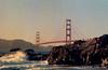 Golden Gate Bridge at sunset taken from Baker Beach. Camera - Nikon FM; Lens - Nikkor 35-200mm f/3.5-4.5 AIs; Film - Kodak Ektar 100 developed in Rollei Digibase C41 Chemicals.  Scanned with Nikon CoolScan V ED.