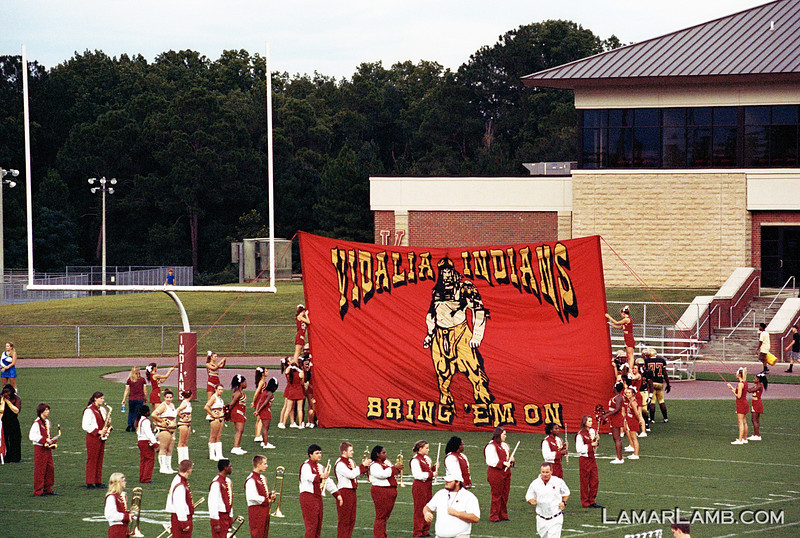 Vidalia High School vs West Laurens. 23 August, 2013.  Camera: Nikon FM.  Film: Kodak Portra 400 at ISO 1600 and pushed 2 stops in Tetenal C-41 chemicals. Lens: Nikkor 80-200mm f/2.8D