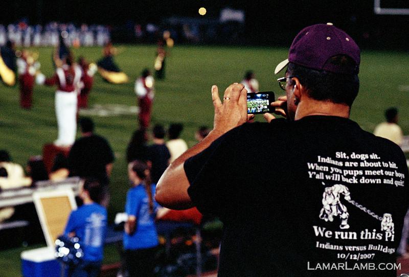Vidalia High School vs West Laurens. 23 August, 2013.  Camera: Nikon FM.  Film: Kodak Portra 400 at ISO 1600 and pushed 2 stops in Tetenal C-41 chemicals. Lens: Nikkor 85mm f/1.8D