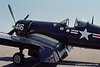 "This beautifully restored F4U-4 Corsair ""Korean War Veteran"" flew off the USS Boxer and USS Valley Forge during the Korean War and still has visible battle damage repair to prove it.  - 2013 Vidalia Airshow - Camera: Nikon F2 Photomic; Lens: 35mm f/1.4 Nikkor-N Auto; Film: Kodak Portra 160; Scanned with Nikon CoolScan V-ED using VueScan 9.2.09 software."