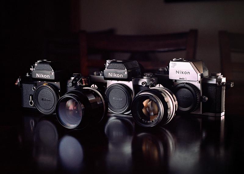 Nikon F and F2's on Kodak Portra 160 - Taken w/ Nikkormat  FT2