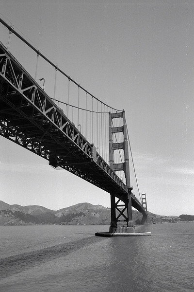 Golden Gate on Ilford Pan F Plus