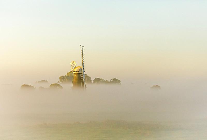 Misty Sky over Mutton's Mill on Halvergate Marsh (September 2017)