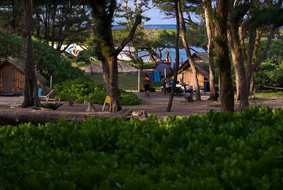Cottage at Maleakahana Camp Grounds, Malaekahana Bay between Laie and Kahuku, on Oahu's North Shore, Hawaii